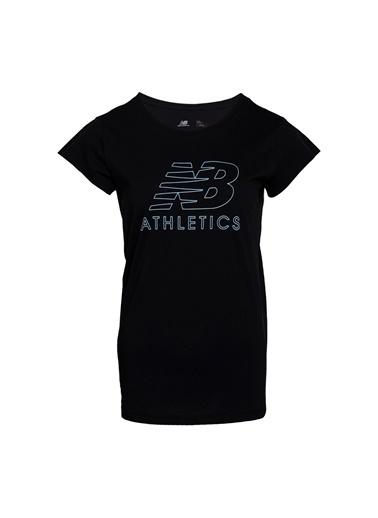 New Balance Kadın  Tişört 45430 Siyah